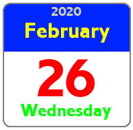 Wednesday February 26th