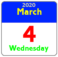 Wednesday March 4th