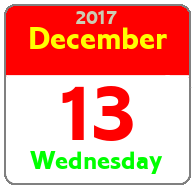 Wednesday December 13th