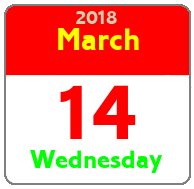 Wednesday March 14th