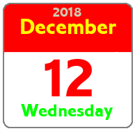 Wednesday December 12th