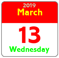 Wednesday March 13th